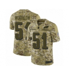 Youth Philadelphia Eagles #51 Paul Worrilow Limited Camo 2018 Salute to Service Football Jersey