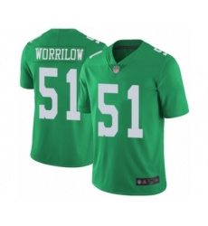 Youth Philadelphia Eagles #51 Paul Worrilow Limited Green Rush Vapor Untouchable Football Jersey