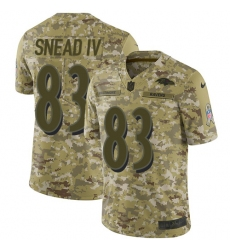 Men's Nike Baltimore Ravens #83 Willie Snead IV Limited Camo 2018 Salute to Service NFL Jersey