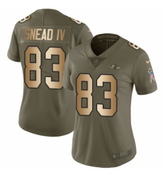 Women's Nike Baltimore Ravens #83 Willie Snead IV Limited Olive/Gold Salute to Service NFL Jersey