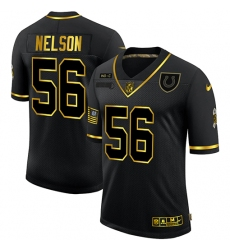 Men's Indianapolis Colts #56 Quenton Nelson Olive Gold Nike 2020 Salute To Service Limited Jersey