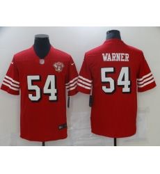 Men's San Francisco 49ers #54 Fred Warner Red 2021 75th Anniversary Vapor Untouchable Limited Jersey
