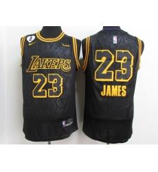 Men's Los Angeles Lakers #23 LeBron James Nike Black Player Jersey