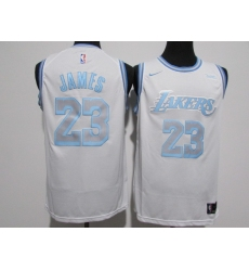 Men's Los Angeles Lakers #23 LeBron James Nike White 2020-21 Swingman Jersey
