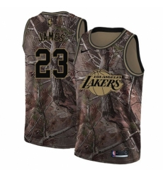 Men's Nike Los Angeles Lakers #23 LeBron James Swingman Camo Realtree Collection NBA Jersey
