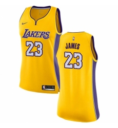 Women's Nike Los Angeles Lakers #23 LeBron James Authentic Gold NBA Jersey - Icon Edition