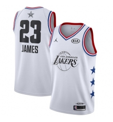 Youth Nike Los Angeles Lakers #23 LeBron James White Basketball Jordan Swingman 2019 All-Star Game Jersey