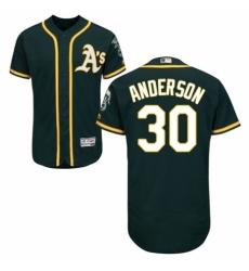 Men's Majestic Oakland Athletics #30 Brett Anderson Green Alternate Flex Base Authentic Collection MLB Jersey