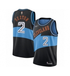 Women's Cleveland Cavaliers #2 Collin Sexton Swingman Black Hardwood Classics Finished Basketball Jersey