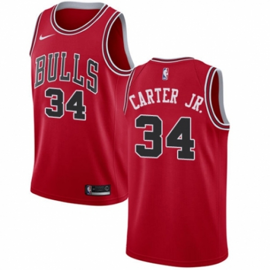Men's Nike Chicago Bulls #34 Wendell Carter Jr. Swingman Red NBA Jersey - Icon Edition