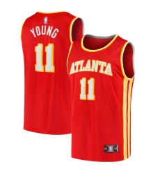 Men's Atlanta Hawks #11 Trae Young Fanatics Branded Red 2020-21 Fast Break Player Jersey