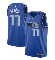 Men's Dallas Mavericks #77 Luka Doncic Nike Royal 2020-21 Swingman Jersey