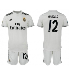 2018-2019 Real Madrid home 12 Club Soccer Jersey
