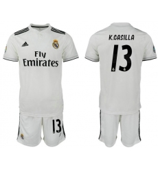 2018-2019 Real Madrid home 13 Club Soccer Jersey