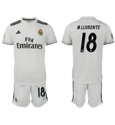 2018-2019 Real Madrid home 18 Club Soccer Jersey