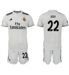 2018-2019 Real Madrid home 22 Club Soccer Jersey