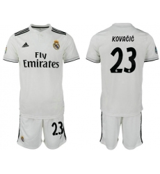 2018-2019 Real Madrid home 23 Club Soccer Jersey