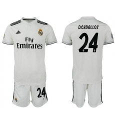 2018-2019 Real Madrid home 24 Club Soccer Jersey