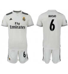 2018-2019 Real Madrid home 6 Club Soccer Jersey