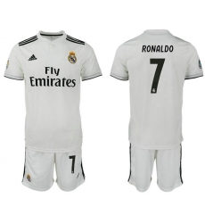 2018-2019 Real Madrid home 7 Club Soccer Jersey