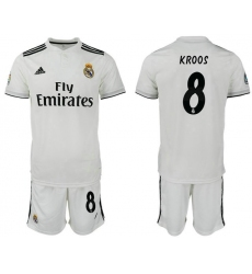 2018-2019 Real Madrid home 8 Club Soccer Jersey