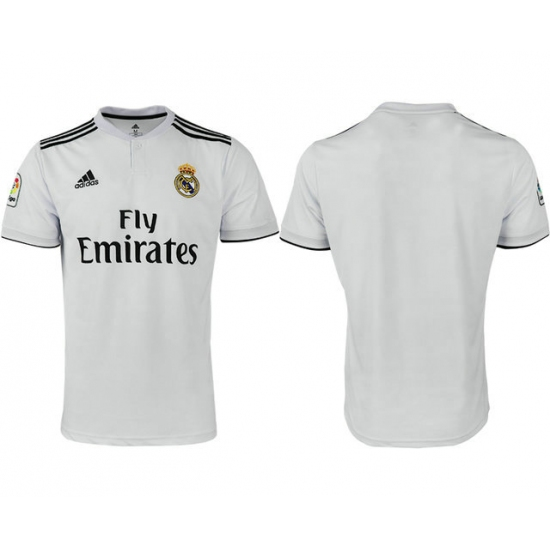 2018-2019 Real Madrid home aaa version blank Club Soccer Jersey