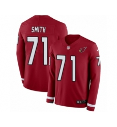 Men's Nike Arizona Cardinals #71 Andre Smith Limited Red Therma Long Sleeve NFL Jersey