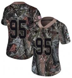 Women's Nike Carolina Panthers #95 Dontari Poe Camo Rush Realtree Limited NFL Jersey