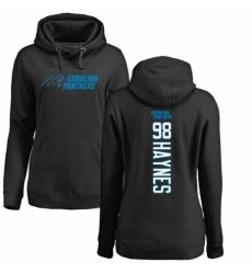 NFL Women's Nike Carolina Panthers #98 Marquis Haynes Black Backer Pullover Hoodie