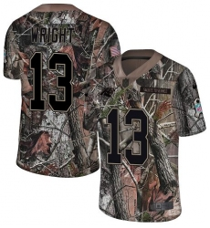 Men's Nike Carolina Panthers #13 Jarius Wright Camo Rush Realtree Limited NFL Jersey