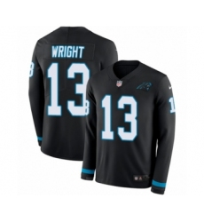 Men's Nike Carolina Panthers #13 Jarius Wright Limited Black Therma Long Sleeve NFL Jersey