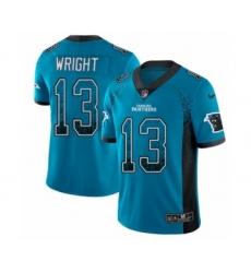 Men's Nike Carolina Panthers #13 Jarius Wright Limited Blue Rush Drift Fashion NFL Jersey