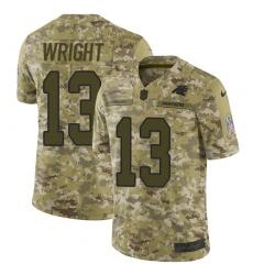 Men's Nike Carolina Panthers #13 Jarius Wright Limited Camo 2018 Salute to Service NFL Jersey