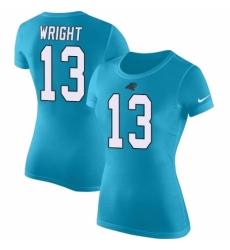 NFL Women's Nike Carolina Panthers #13 Jarius Wright Blue Rush Pride Name & Number T-Shirt