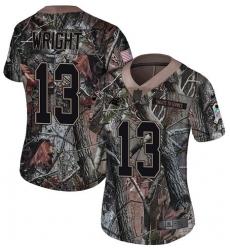 Women's Nike Carolina Panthers #13 Jarius Wright Camo Rush Realtree Limited NFL Jersey
