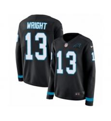 Women's Nike Carolina Panthers #13 Jarius Wright Limited Black Therma Long Sleeve NFL Jersey