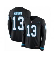 Youth Nike Carolina Panthers #13 Jarius Wright Limited Black Therma Long Sleeve NFL Jersey
