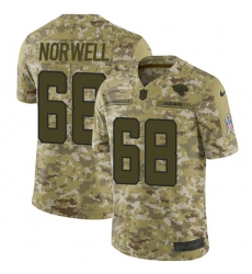 Men's Nike Jacksonville Jaguars #68 Andrew Norwell Limited Camo 2018 Salute to Service NFL Jersey
