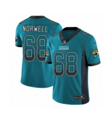 Men's Nike Jacksonville Jaguars #68 Andrew Norwell Limited Teal Green Rush Drift Fashion NFL Jersey