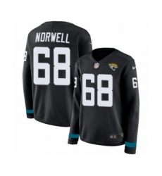 Women's Nike Jacksonville Jaguars #68 Andrew Norwell Limited Black Therma Long Sleeve NFL Jersey