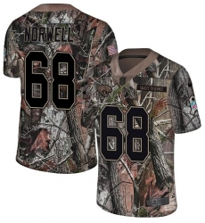 Youth Nike Jacksonville Jaguars #68 Andrew Norwell Camo Rush Realtree Limited NFL Jersey