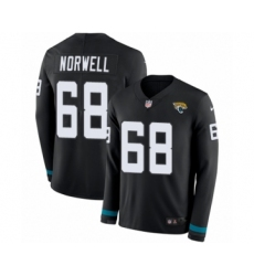 Youth Nike Jacksonville Jaguars #68 Andrew Norwell Limited Black Therma Long Sleeve NFL Jersey