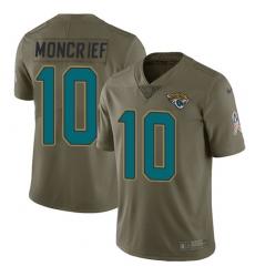 Men's Nike Jacksonville Jaguars #10 Donte Moncrief Limited Olive 2017 Salute to Service NFL Jersey