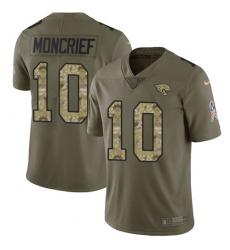 Men's Nike Jacksonville Jaguars #10 Donte Moncrief Limited Olive Camo 2017 Salute to Service NFL Jersey
