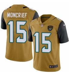 Men's Nike Jacksonville Jaguars #15 Donte Moncrief Limited Gold Rush Vapor Untouchable NFL Jersey