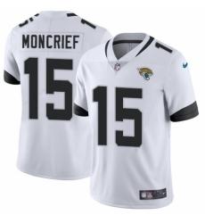 Men's Nike Jacksonville Jaguars #15 Donte Moncrief White Vapor Untouchable Limited Player NFL Jersey