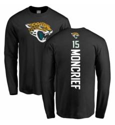 NFL Nike Jacksonville Jaguars #15 Donte Moncrief Black Backer Long Sleeve T-Shirt