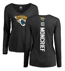 NFL Women's Nike Jacksonville Jaguars #10 Donte Moncrief Black Backer Slim Fit Long Sleeve T-Shirt