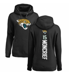 NFL Women's Nike Jacksonville Jaguars #15 Donte Moncrief Black Backer Pullover Hoodie