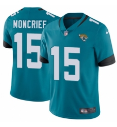 Youth Nike Jacksonville Jaguars #15 Donte Moncrief Black Alternate Vapor Untouchable Limited Player NFL Jersey